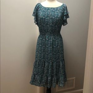 Adorable & Flirty Ruffle Floral Dress